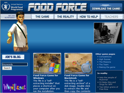 Food Force Video Game from United Nations
