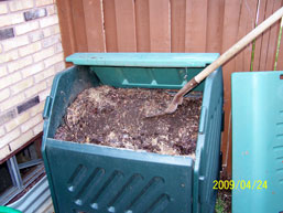 Add dirt to compost
